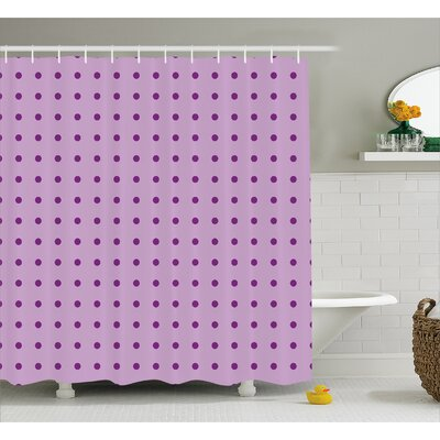 Carlo Fashion Polka Dots Shower Curtain Size: 69 W x 75 L