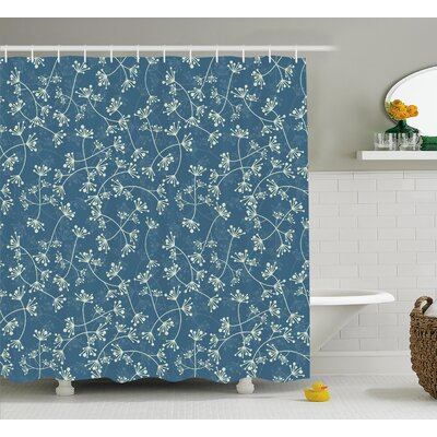 Arnav Twiggy Spring Petal Blue Shower Curtain Size: 69 W x 75 L