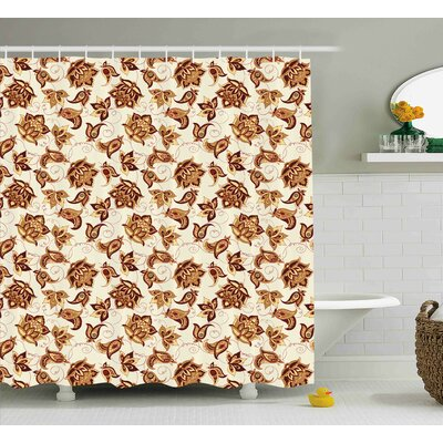 Barwick Ethnic Asian Motif Shower Curtain Size: 69 W x 70 L