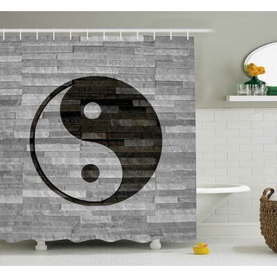 Alejandro Ying Yang Harmony Asian Shower Curtain Size: 69 W x 75 L