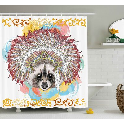Tribal Native Indian American Shower Curtain Size: 69 W x 75 L