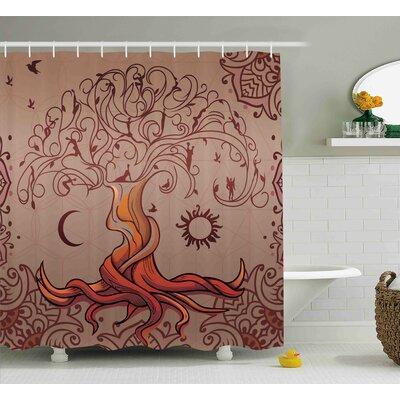 Beaufort Charming Vintage Tree Shower Curtain Size: 69 W x 84 L