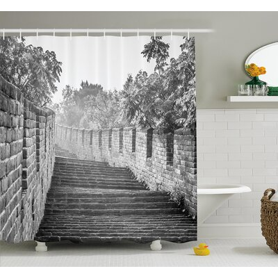 China Cultural Ancient Ruins Shower Curtain Size: 69 W x 70 L