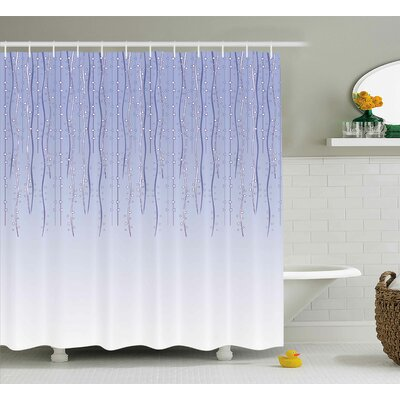 Donald Twisted Ivy Bows Cords Shower Curtain Size: 69 W x 75 L