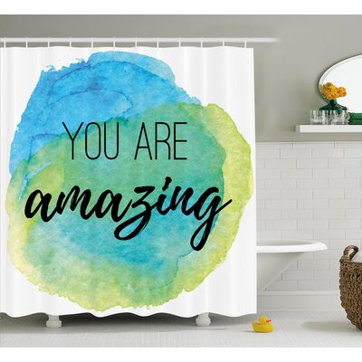 Benninger Inspiratonal Watercolor Shower Curtain Size: 69 W x 84 L