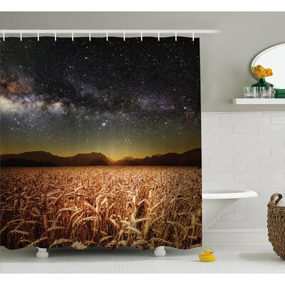Space Star Clusters in Twilight Shower Curtain Size: 69 W x 75 L