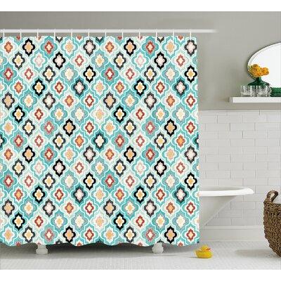 Baltazar Ottoman Heraldic Decor Shower Curtain Size: 69 W x 70 L