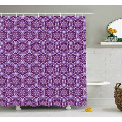 Beamond Abstract Mosaic Style Shower Curtain Size: 69 W x 70 L