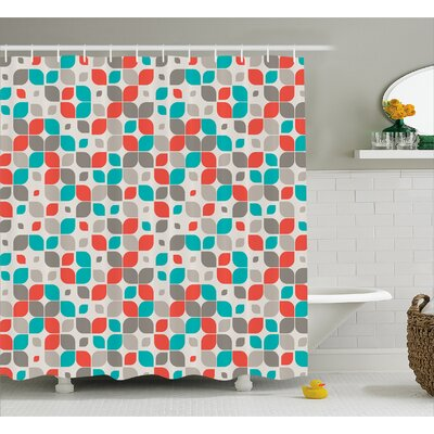 Emmanuell Retro Mosaic Motif Shower Curtain Size: 69 W x 70 L