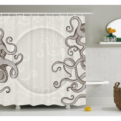 Silvia Fish Octopus Circular Shower Curtain Size: 69 W x 75 L