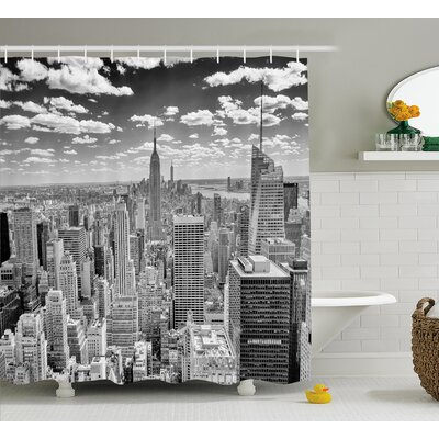 Brunelle Manhattan Urban Scenery Shower Curtain Size: 69 W x 75 L