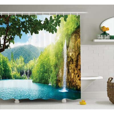 Landscape Crotian Lake Forest Shower Curtain Size: 69 W x 84 L