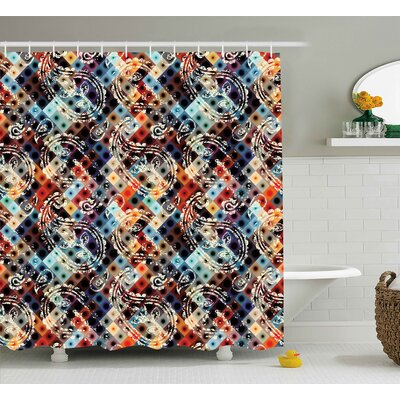 Blondell Retro Geometric Decor Shower Curtain Size: 69 W x 75 L