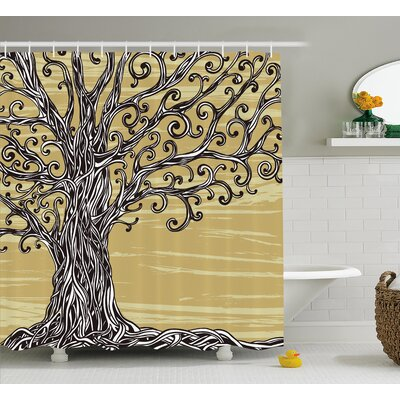 Bealeton of Life Nature Eco Sketchy Shower Curtain Size: 69 W x 70 L