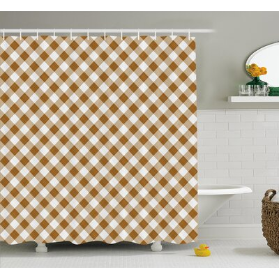 Burnabbie Cloth Pattern Geometric Shower Curtain Size: 69 W x 84 L