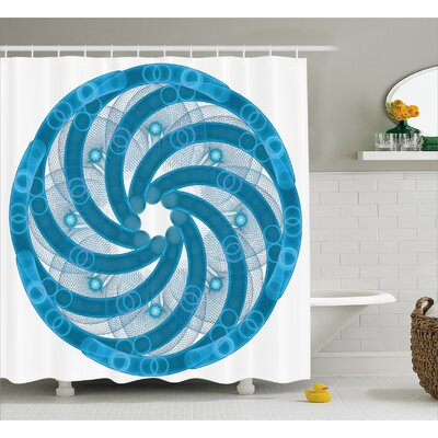 Alberto Abstract Fractal Artsy Shower Curtain Size: 69