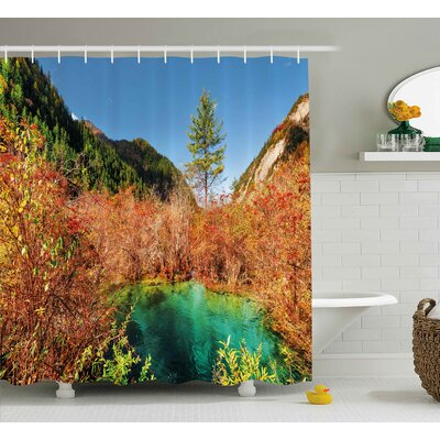 Nature Idyllic Autumn Decor Shower Curtain Size: 69 W x 84 L