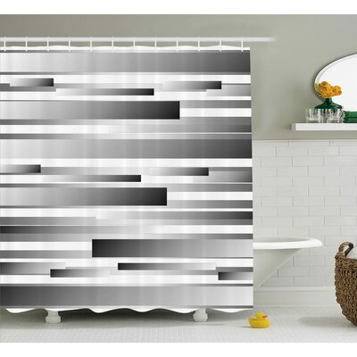 Ella Regular Modern Decor Shower Curtain Size: 69 W x 70 L