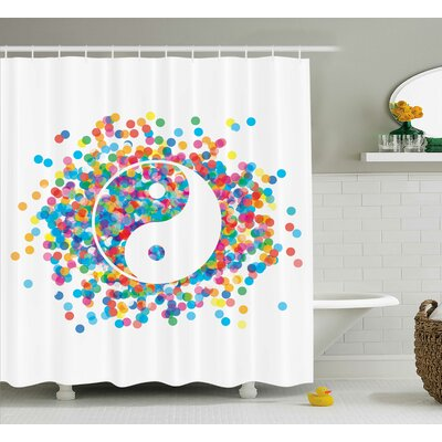Billman Yang Decor Flower Harmony Shower Curtain Size: 69 W x 75 L
