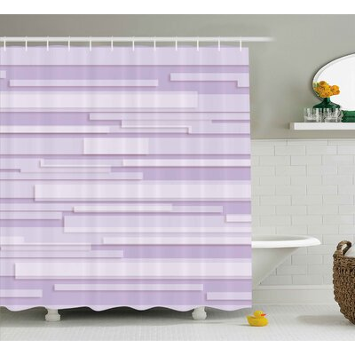 Enrique Stone Band Motif Shower Curtain Size: 69 W x 75 L