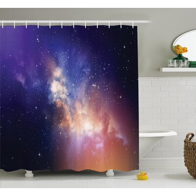 Space Stars in Supernova Sky Shower Curtain Size: 69 W x 84 L