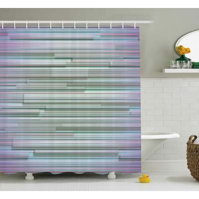 Baumbach Mixed Merge Stripes Shower Curtain Size: 69