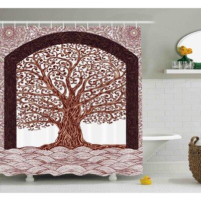 Archibald Sketchy Modern Waves Shower Curtain Size: 69 W x 70 L