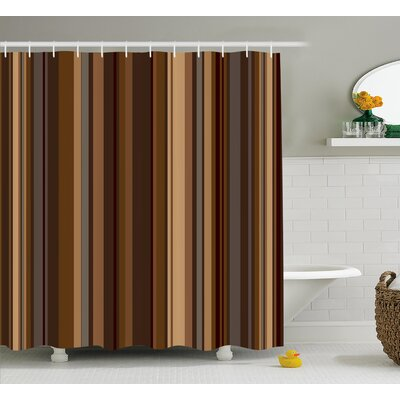 Orchard Shades of Earthen Tones Shower Curtain Size: 69 W x 84 L