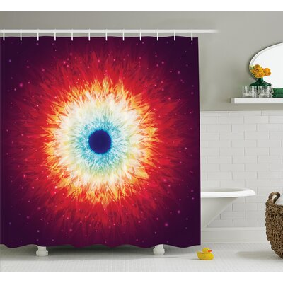 Space Galaxy with Magical Stars Shower Curtain Size: 69 W x 75 L