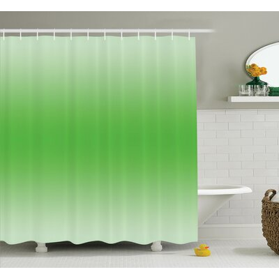 Fred Moss Leaf Spring Theme Shower Curtain Size: 69 W x 70 L