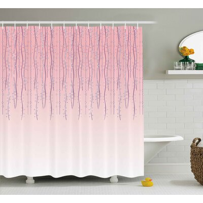 Pardee Vintage Ivy Ceremony Shower Curtain Size: 69 W x 75 L