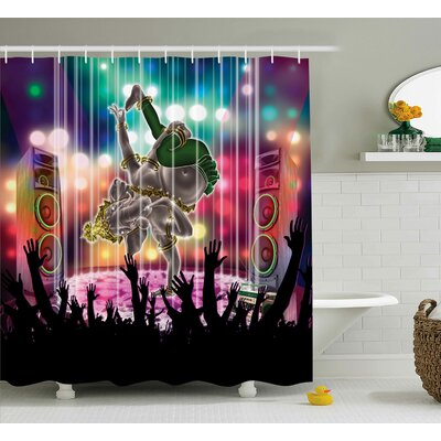 Mystic Old Modern Ethnic Deity Shower Curtain Size: 69 W x 84 L