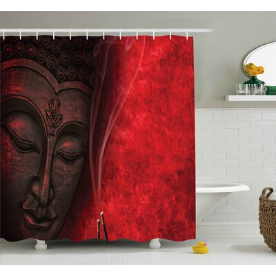 Avondale Zen Yoga Hippie Decor Shower Curtain Size: 69 W x 75 L