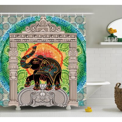 Alep Ancient Pantheon Tower Shower Curtain Size: 69 W x 70 L