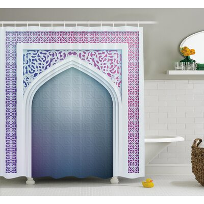 Astra Old Geometric Motifs Shower Curtain Size: 69 W x 84 L