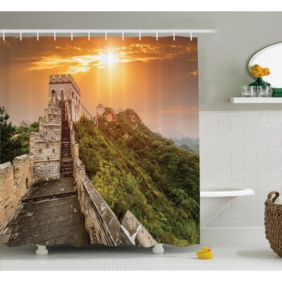 China Heritage World Bricks Shower Curtain Size: 69 W x 70 L