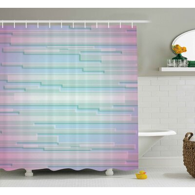 Enrique Minimal Digital Decor Shower Curtain Size: 69 W x 84 L