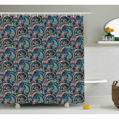 Fayette Tribal Vibrant Pattern Shower Curtain Size: 69 W x 75 L