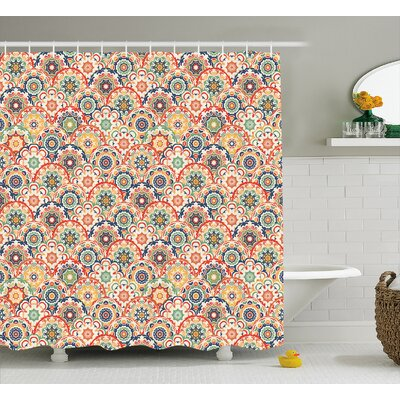 Courtnay Floral Old Display Shower Curtain Size: 69 W x 70 L