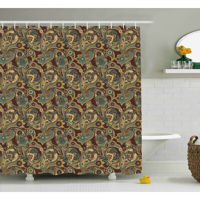 Bautista Persian Hippie Florets Shower Curtain Size: 69 W x 75 L