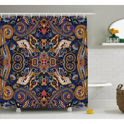 Barnaby Moroccan Florets Decor Shower Curtain Size: 69 W x 70 L