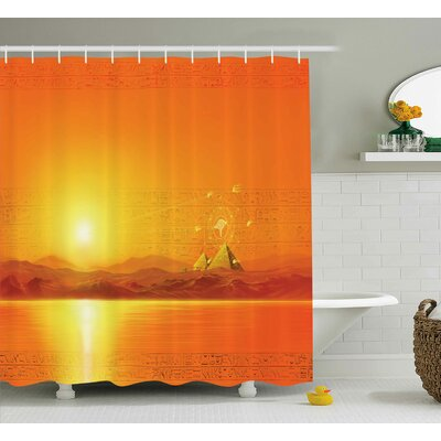 Andrew Geometry Symbol in Air Shower Curtain Size: 69 W x 75 L