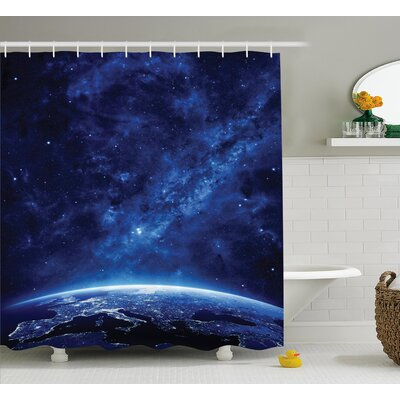 Helga Vibrant Milky Way Stars Shower Curtain Size: 69 W x 75 L