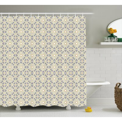 Evergreen Moroccan Floral Art Shower Curtain Size: 69 W x 84 L
