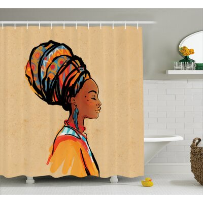 Avia Ethnic Exotic Feather Shower Curtain Size: 69 W x 84 L