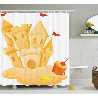 Luther Sand Castle Kingdom Summer Shower Curtain Size: 69 W x 84 L