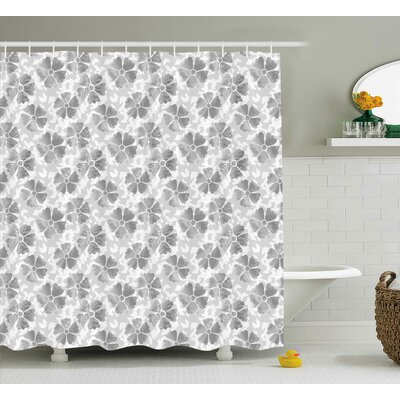 Gerardo Digital Flower Petals Shower Curtain Size: 69 W x 75 L