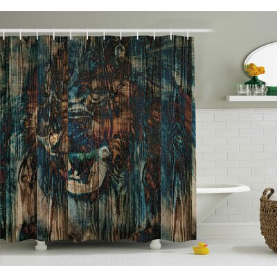Andrews Wild African Animals Shower Curtain Size: 69 W x 70 L