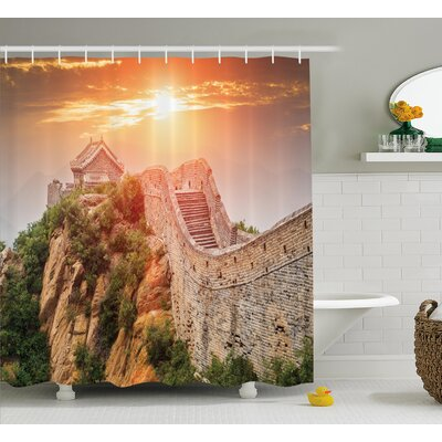 China Sunrise Horizon Empire Shower Curtain Size: 69 W x 70 L