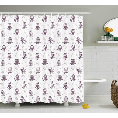 Cristopher Cute Owls on The Branch Shower Curtain Size: 69 W x 75 L